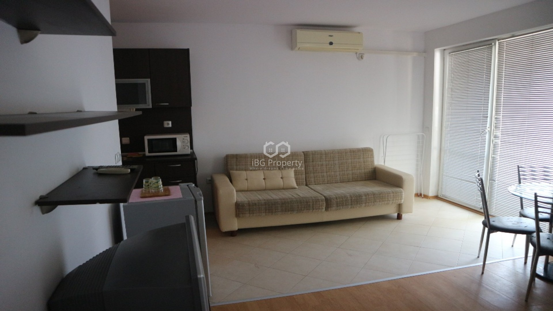 Einzimmerwohnung in Sonnenstrand 45 m2