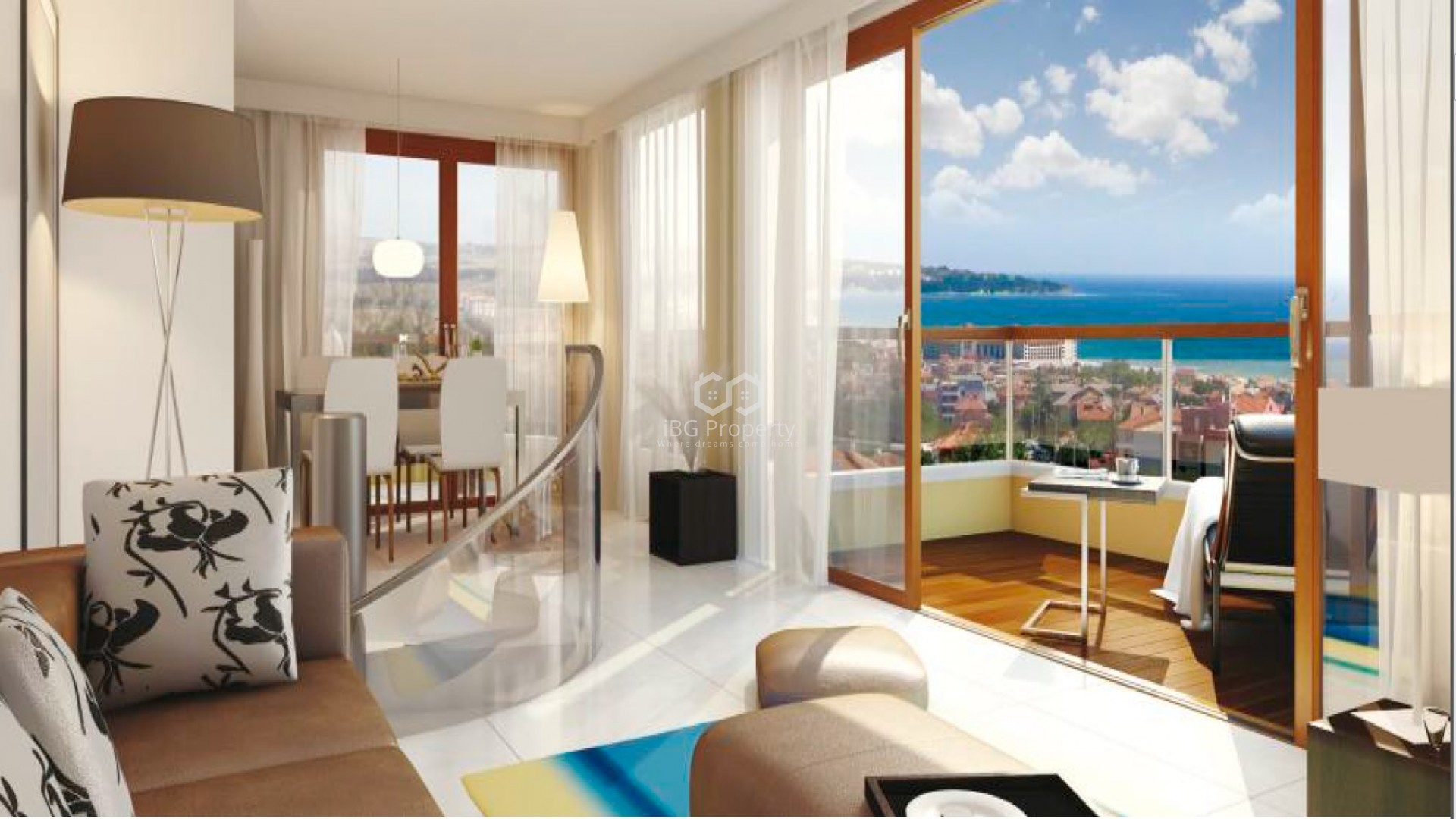Zweizimmerwohnung in Obzor 103 m2